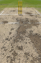 The pitch for the New Zealanders' tour game shows signs of deterioration, Cricket Australia XI v New Zealand, Sydney, 2nd day, October 30, 2015