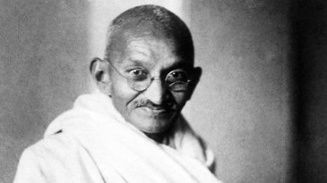 Portrait of Mahatma Gandhi