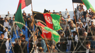 Afghanistan fans welcome their victorious team back home