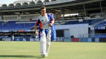 James Taylor heads for the nets after confirmation of his recall