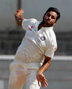 Shardul Thakur bowls to the South African batsmen during the tour game, Indian Board President's XI v South Africans, Mumbai, 2nd day, October 31, 2015