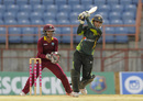 Bismah Maroof drives down the ground, West Indies v Pakistan, 2nd women's T20, Grenada, October 31, 2015