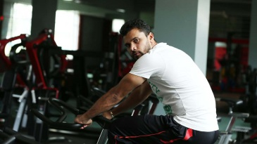 Mashrafe Mortaza during a training session