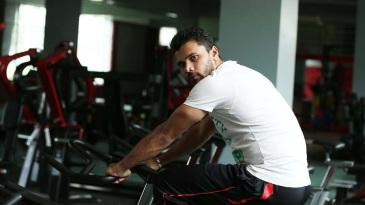 Mashrafe Mortaza during a training session