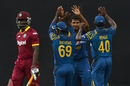 Sri Lanka celebrate Andre Fletcher's dismissal for 3, Sri Lanka v West Indies, 1st ODI, Colombo, November 1, 2015