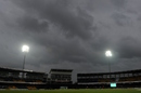 Dark clouds gather over the R Premadasa Stadium, Sri Lanka v West Indies, 1st ODI, Colombo, November 1, 2015