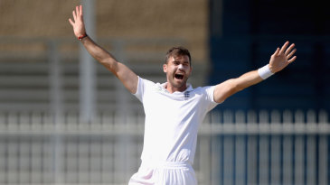 James Anderson trapped Younis Khan lbw with the first ball of his second spell