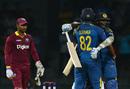 Ajantha Mendis is elated after hitting the winning runs for Sri Lanka, Sri Lanka v West Indies, 1st ODI, Colombo, November 1, 2015