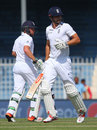 Alastair Cook and Ian Bell added 71 for the second wicket, Pakistan v England, 3rd Test, Sharjah, 2nd day, November 2, 2015