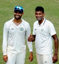 Aditya Sarwate and Akshay Wakhare shared 10 wickets between them, Vidarbha v Maharashtra, Ranji Trophy 2015-16, Group A, Nagpur, 4th day, November 2, 2015