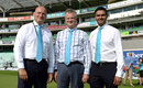 Paul Robin, Angus Porter and Wasim Khan pose in Cricket United ties, England v Australia, 5th Investec Test, The Oval, 3rd day, 23 August, 2013