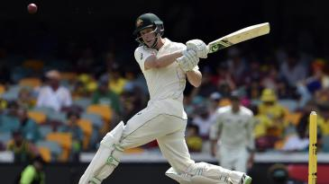 Adam Voges pulls during his 83 not out