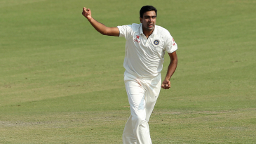 R Ashwin picked up three wickets in the first session of day two