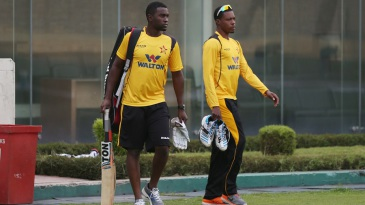 Elton Chigumbura gears up for a training session