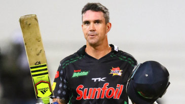 Kevin Pietersen's century rescued the Dolphins from 87 for 6