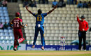 Suranga Lakmal appeals for Andre Fletcher's wicket, Sri Lanka v West Indies, 3rd ODI, Pallekele, November 7, 2015
