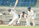 AG Pradeep plays the slog sweep, Tamil Nadu v Andhra, Ranji Trophy, Group B, 1st day, Chennai, November 7, 2015