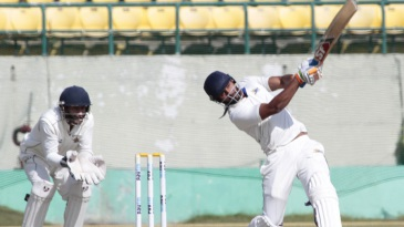 Paras Dogra belts the ball