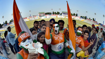 The fans make their presence felt in Mohali