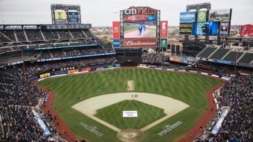 All set for the game at Citi Field, New York