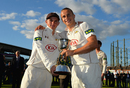 Sam and Tom Curran celebrate with the Division Two trophy, Surrey v Northamptonshire, County Championship, The Oval, September 25, 2015