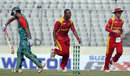 Tinashe Panyangara celebrates after dismissing Tamim Iqbal for 19, Bangladesh v Zimbabwe, 2nd ODI, Mirpur, November 9, 2015