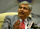 BCCI president Shashank Manohar talks to the media during a press conference after the board's annual general meeting, Mumbai, November 9, 2015