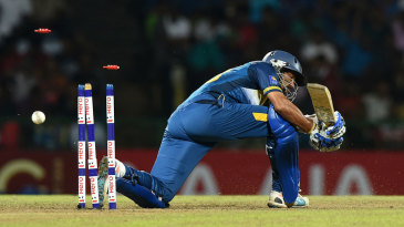 Tillakaratne Dilshan was bowled between his legs