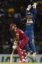 Kusal Perera took a sharp catch to remove Dwayne Bravo, Sri Lanka v West Indies, 1st T20, Pallekele, November 9, 2015