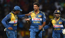 Sachithra Senanayake finished with 4 for 46, Sri Lanka v West Indies, 1st T20, Pallekele, November 9, 2015