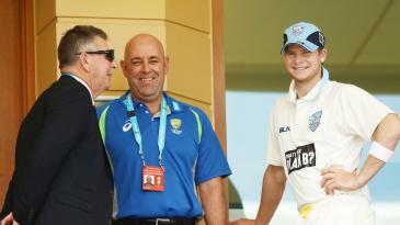 Rod Marsh, Darren Lehmann and Steven Smith