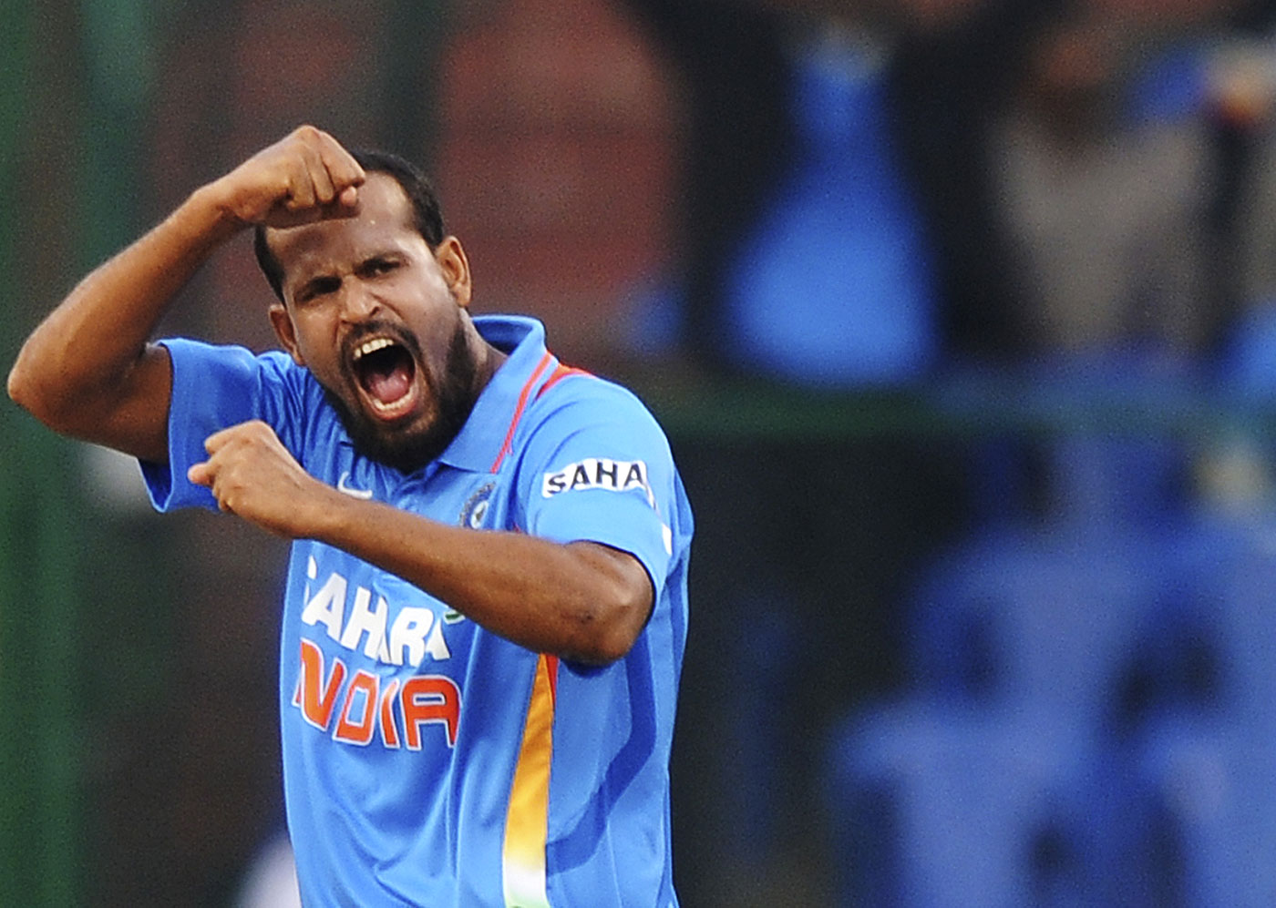 Still on the fringes: Yusuf Pathan's last appearance for India was in 2012