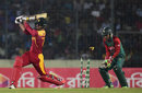 Craig Ervine misses a swipe and is bowled, Bangladesh v Zimbabwe, 1st T20, Mirpur, November 13, 2015