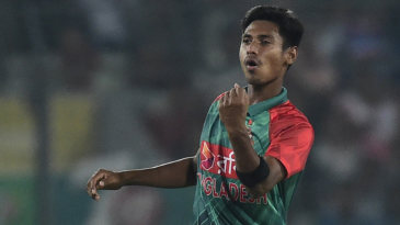 Mustafizur Rahman celebrates
