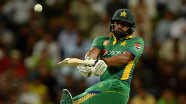 Azhar Ali made a dour 22 from 45 balls at the top of Pakistan's order
