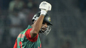 Mashrafe Mortaza pumps his fist after the win