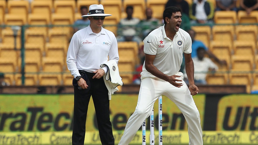 R Ashwin lets out a roar