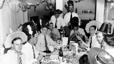 England's players enjoy a Christmas dinner