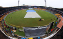 A drizzle delayed the start of the second day's play at the M Chinnaswamy Stadium, India v South Africa, 2nd Test, Bangalore, 2nd day, November 15, 2015