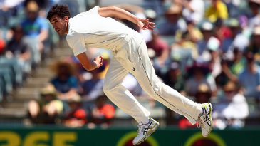 Mitchell Starc troubled New Zealand's batsmen with his pace