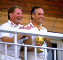 David Bairstow with Phil Carrick after Yorkshire won the Benson and Hedges Cup, Northamptonshire v Yorkshire, Benson and Hedges Cup final, Lord's, July 11, 1987