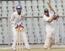 Arindam Ghosh drives, Mumbai v Railways, Group B, Ranji Trophy 2015-16, Mumbai, 1st day, November 15, 2015