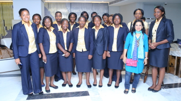 The Zimbabwe women's team after their arrival in Bangladesh