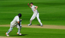 Graham Onions throws, running out Jeetan Patel, Warwickshire v Durham, County Championship, Division One, Edgbaston, May 18, 2015