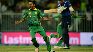 Zafar Gohar removed Alex Hales via a catch at slip