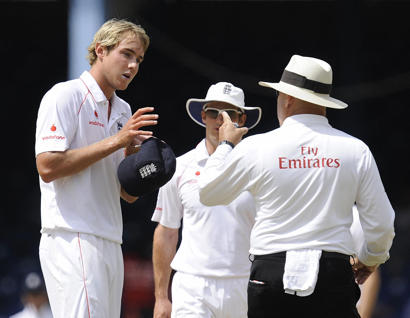Detention candidate: Broad's occasional petulance has landed him in trouble with umpires and match referees