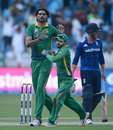 Mohammad Irfan dismissed Alex Hales for 22 to end a 54-run stand, Pakistan v England, 4th ODI, Dubai, November 20, 2015