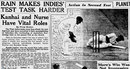Screenshot from the <i>Age</i> newspaper reporting on second day of 1960-61 Australia-West Indies Test in Melbourne, January 3, 1961