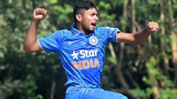 Avesh Khan struck in each of his first four overs