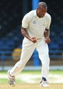 Dave Bernard celebrates the wicket of Narsingh Deonarine, Trinidad & Tobago v Jamaica, WICB Professional Cricket League Regional 4 Day Tournament, 1st day, Port-of-Spain, November 20, 2015